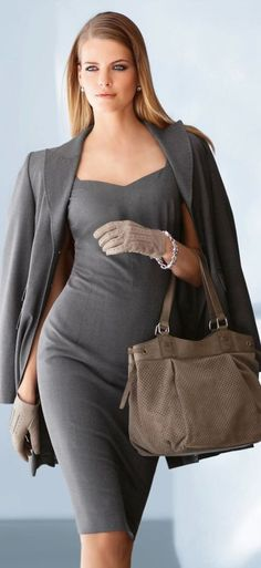 Dress and the Jacketare fabulous flattering in all the right places But remove the driving gloves not very feminine looking it deters from the feminine style of the dress