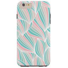 Cool Colorful Ocean Waves Pattern Tough iPhone 6 Plus Case