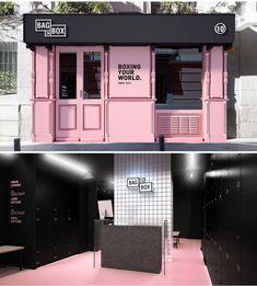 Bag in box - Wanna Coffee Shop Design, Cafe Design, Store Design, Design Salon, Salon Interior Design, Boutique Interior, Shop Facade, Lash Room, Beauty Salon Decor