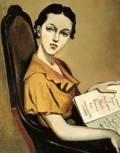 """Portrait de Sheila Pickering"" 1935 par Balthus (1908-2001)"