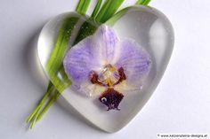 Briefbeschwerer Orchideenherz
