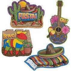 Mexican Cutouts - Pack of 4 A131322