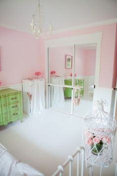 """Good idea for the mirror in the spare room """"aka"""" the new house project for Alivia."""