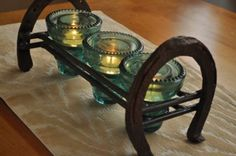 recycled candle holder-but it helps to know a welder, or weld!