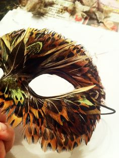 Like the few single longer feathers over the smaller ones. Do a line of long feathers over the tops of eyes, like lashes in the mask. Keep the rest short, not much fluff.