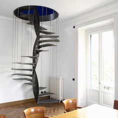 Staircase to kids play room.