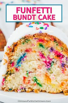 This homemade funfetti bundt cake is so easy to make. Using a cake mix as the base, you'll add other ingredients and sprinkles to make the perfect, scratch tasting, but easy cake. It's the perfect moist cake for birthdays or really any occasion. Easy Birthday Desserts, White Birthday Cakes, Easy Desserts, 9th Birthday, Birthday Ideas, Pound Cake Recipes, Dessert Recipes, Yummy Recipes, Healthy Recipes