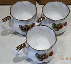 VINTAGE Queen's CHURCHILL Fine Bone China Cups Antique Fruit Collectible – British & Far East Traders Lifestyle & Shopping Blog Coffee Cups, Tea Cups, Beautiful Fruits, Lifestyle Shop, Churchill, Bone China, Bones, Delicate, British