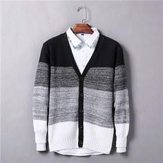 2016 Top Quality Factory Direct Clothing Mens Cardigan Sweater Stylish Men Sweaters V Necck M L XL XXL Mens knitted sweater