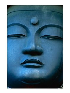 Fine-Art Print - Close-up of the face of a Buddha Statue, Tokyo, Honshu, Japan by Unknown