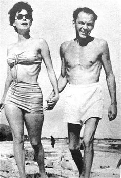 Skin and bones Frank. With Ava Gardner