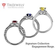 Newly launched TriJewels Signature collection Rings.