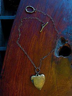 a beautiful big brass heart @ metal and thread...all handmade in brooklyn...!