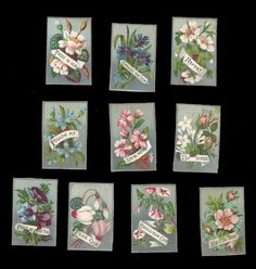 R04 - SMALL VICTORIAN RELIGIOUS MOTTO CARDS - FLORAL - SCRIPTURE - BIBLE QUOTE | eBay