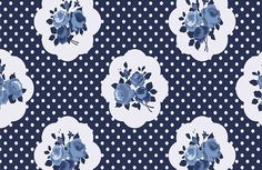 shabby chic, navy blue,white,pale blue,polka dots, roses,floral,flowers,vintage,modern,trendy,girly