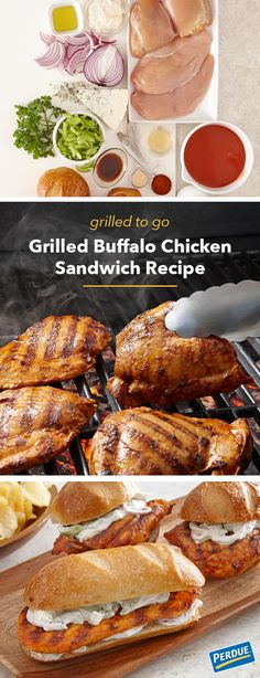 Embrace all of summer's flavors with this Grilled Buffalo Chicken Sandwich recipe from Perdue. This easy-to-make meal combines juicy Perdue® Perfect Portions® Boneless Chicken, zesty blue cheese celery slaw and hearty rolls. Make this recipe in only 4 steps by clicking through!