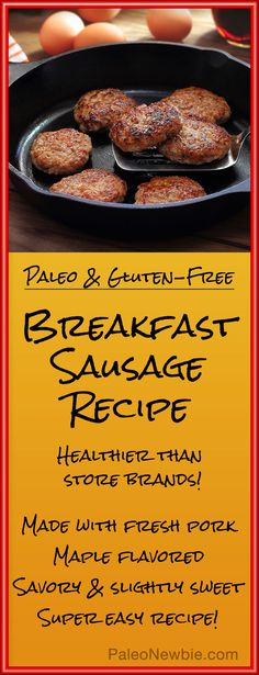 Easy recipe for homemade breakfast sausage without the typical additives and preservatives...healthy and hearty goodness!