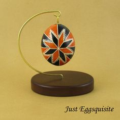 Pysanky Pisanki Ukrainian Polish Easter Egg Red by JustEggsquisite