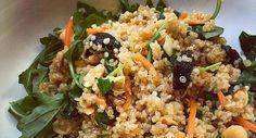 Quinoa Salad with Dried Figs - Grain salads are a hearty menu option in winter. Here, Chef Del Grande starts with quinoa, adding dried figs to for a shot of sweetness. Kale, fennel seeds, garlic and onions balance the salad with savory elements.