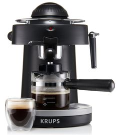 espresso at home KRUPS Steam Espresso Machine with Frothing Nozzle for Cappuccino Black KRUPS Steam Espresso Machine with Frot Best Home Espresso Machine, Espresso At Home, Espresso Machine Reviews, Espresso Coffee, Best Coffee, Italian Espresso, Krups Coffee, Cappuccino Maker, Cappuccino Machine