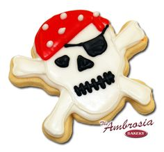 Image result for skull and crossbone iced cookies