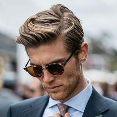Wavy Side Part Haircut #menshairstylessidepart