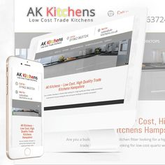 "The New Website for AK Kitchens is now ""live"" at http://ak-kitchens.co.uk/"