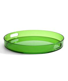 Take a look at this Green 15'' Round Tray by Cypress Home on #zulily today!