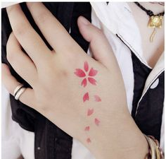 Free Shipping (10 pieces/lot) Cherry Blossom Tattoo Sticker Sakura Symbol Cosplay Item Waterproof Stickers Beautiful Girl Tattoo
