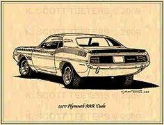 Plymouth Mopar Muscle Car Art by K. Scott Teeters