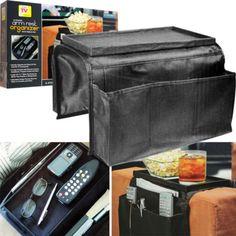 TV-Remote-Control-Snack-Storage-Organizer-Holder-Clamp-Drapes-Over-Sofa-Arm-Home