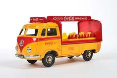 Tippco, VW Bus Coca Cola, W.-Germany, Blech, Friktion defekt, kleine Delle im Heck, sonst Z 1-  Tippco, VW Bus Coca Cola, W.-Germany, tin, friction defective, small dent on rear, otherwise C 1-