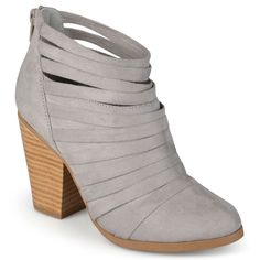 Journee Collection Selena Women's Ankle Boots, Size: medium (6.5), Grey