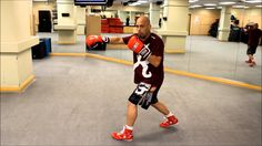 Boxing - Throwing Multiple Left Hooks Moving Forward