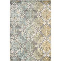 Rectangle 5' x 8' Gray & Silver Rugs   Wayfair