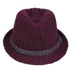 V-SOL Rojo Oscuro Unisex Hermoso Puede Plegable Caliente Lana Sueva Moda  Del Sombrero Rojo 3f69ed9877b