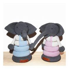 Sippes hækleopskrift på Stabeldyret Elefanten