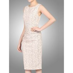 Buy Jolie Moi Two Tone Lace Dress, Light Pink Online at johnlewis.com