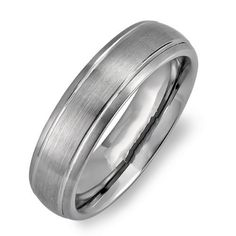 Cobalt Men's Dome Wedding Band 8MM Bushed Finish in Center and Polished Shiny Comfort Fit (Available in Sizes 7 to 12) DazzlingRock Collection. $49.99. Get most bang for your buck. Unisex Ring. 8mm wide. Stamped Cobalt