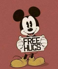 Free hugs from mickey mouse