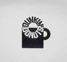 Retro Corporate Logo Goodness_00082 (jordan_lloyd) Tags: blackandwhite cup coffee vintage logo 60s icons retro 80s donuts mug 70s 1970s 1980s logos branding dunkin iconography trademarks logotypes