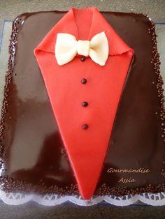 #Gâteau d'#Anniversaire #gâteauMonsieur, #cakedesigne, #pateasucre