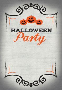Halloween Party - Free Printable Halloween Invitation Template   Greetings Island