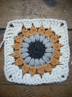 Purple Chair Crochet: Sunburst Granny Square (Free!)