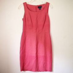 """Ann Taylor """"Pretty in Pink"""" Mini Dress (Sz 4P) Channel Elle Woods in this chic hot pink mini dress. Excellent pre-owned condition. SHELL: 52% Linen, 48% Rayon. LINING: 100% Acetate. Comes from a clean, smoke-free home.   ---------✄---------MEASUREMENTS---------✄--------- (taken on flat surface - use for accurate sizing) BUST: 16""""   WAIST: 14""""   LENGTH: 40""""   ____________________________________ Please ask any questions before purchasing. OFFERS ARE WELCOME. Thanks for visiting! Ann Taylor…"""