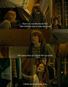 Ron Weasley. Look at how Harry is looking at Ginny :)