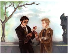 GO: A toast in the ruins by ~Linnpuzzle on deviantART