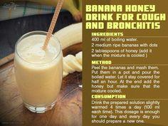 Banana honey drink for cough