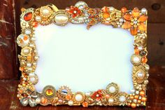 vintage jewelry mosaic frame - Google Search
