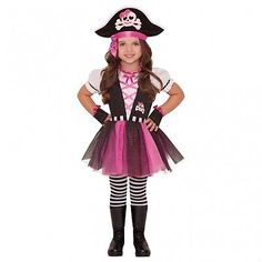 #Dazzling pink pirate #costume children fancy #dress girls buccaneer outfit 3-6  sc 1 st  Pinterest & Pirate Captain Costume For Girls - Red 10 - Chasing Fireflies ...